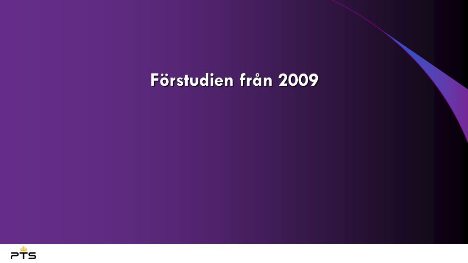 Förstudien från 2009