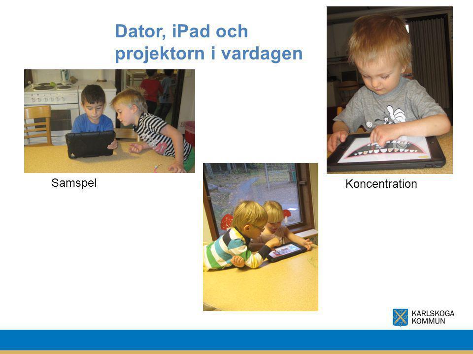 Dator, iPad och projektorn i vardagen Samspel Koncentration