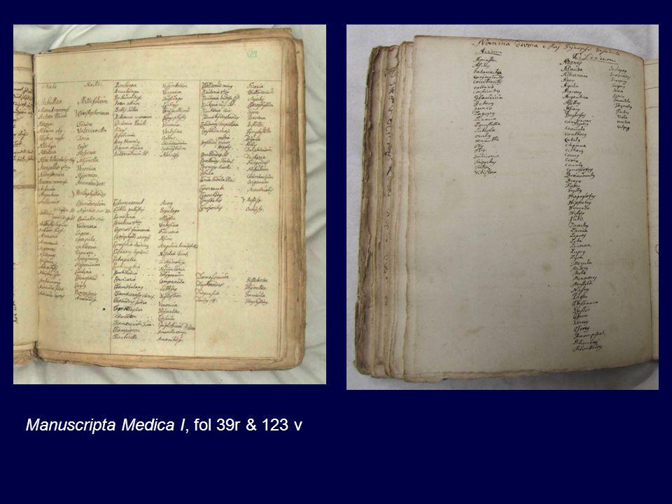 Manuscripta Medica I, fol 39r & 123 v