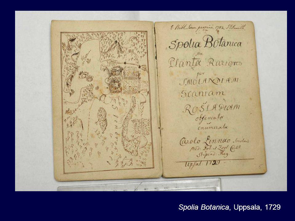 Spolia Botanica, Uppsala, 1729