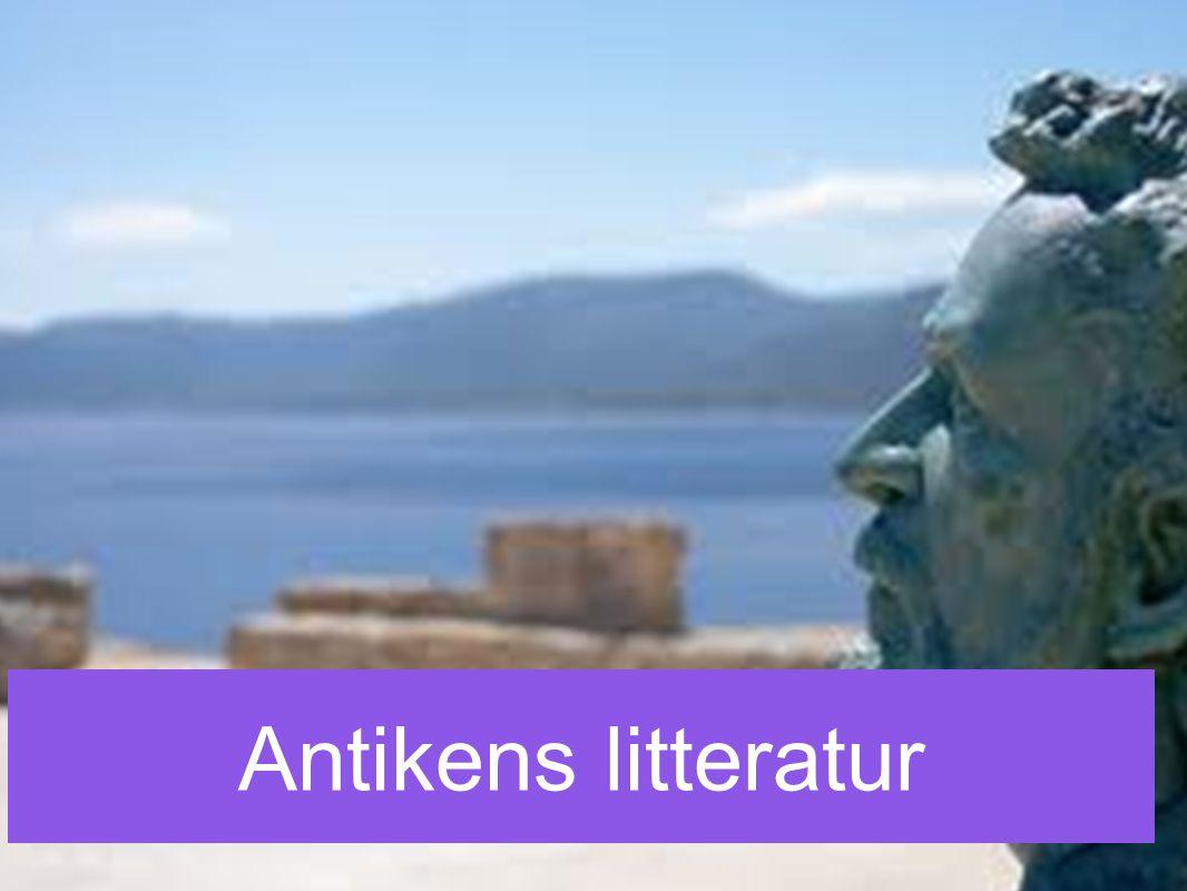 *Grekiskt litteratur är olik vår moderna * Fokus är att få fram en förståelse, ett telos * Vi kan inte analysera grekiskt litteratur på något annat sätt