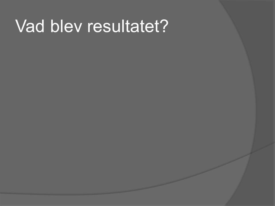 Vad blev resultatet?