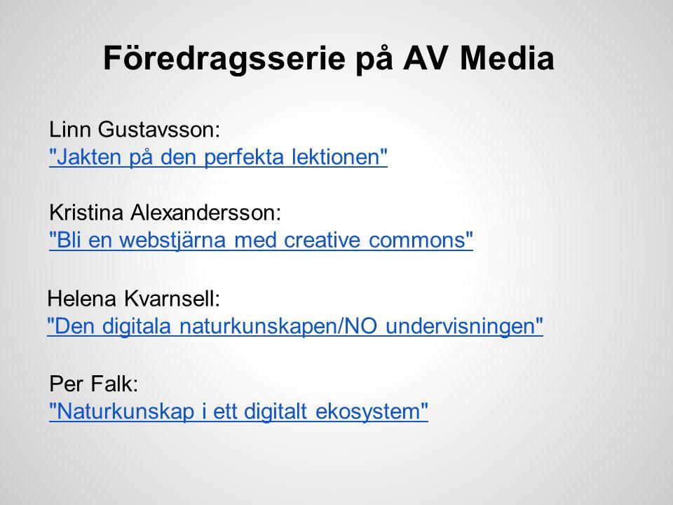 Föredragsserie på AV Media Linn Gustavsson: