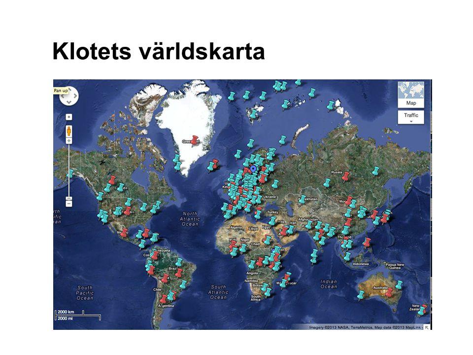 Klotets världskarta