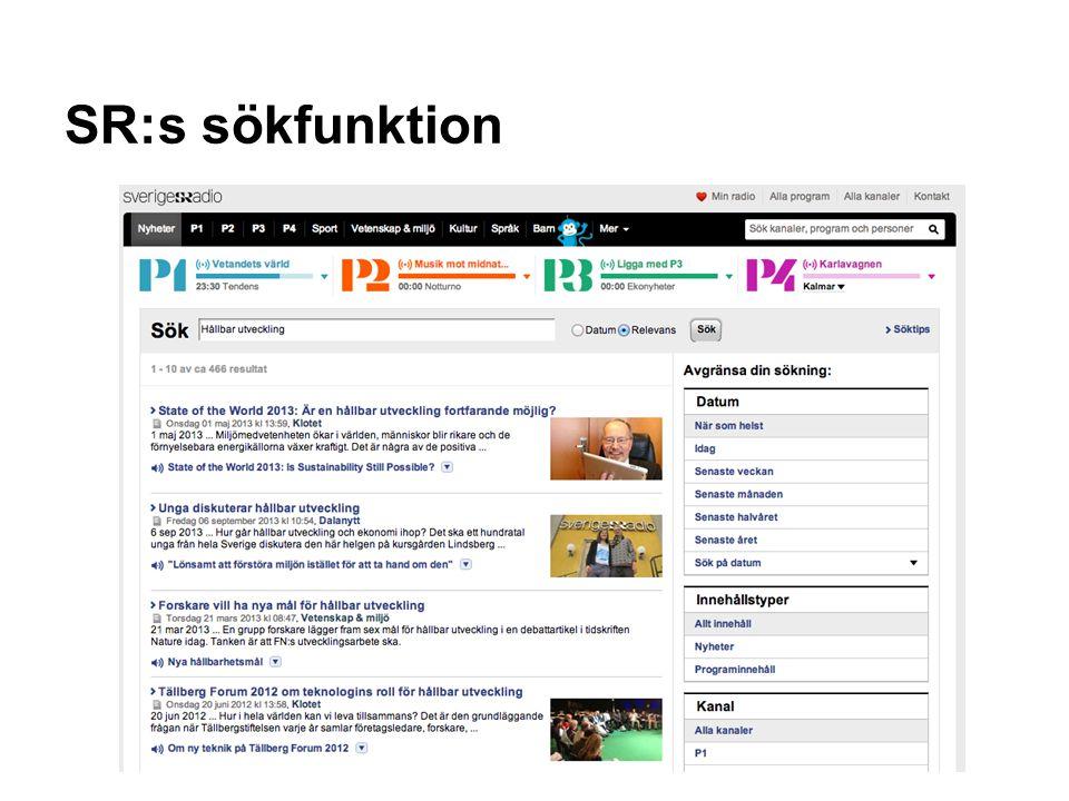 SR:s sökfunktion