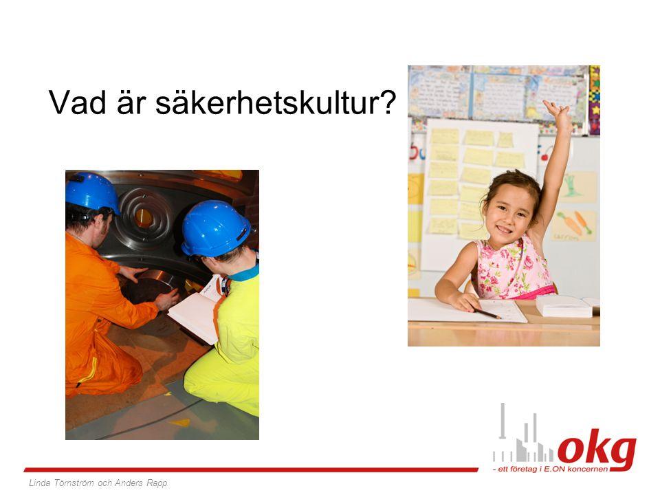 Vad är säkerhetskultur? Linda Törnström och Anders Rapp