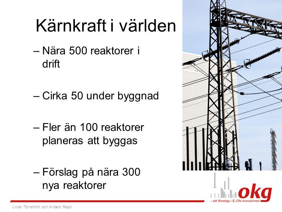 –Ett av världens största energibolag –Ledande position inom el och gas –Omsättning på 900 miljarder svenska kronor –Nära 100 000 medarbetare varav: - 1/3 är kvinnor - 1/5 av alla är 30 år eller yngre, hälften är mellan 31 och 50, resten är över 51 år –Verksamma i 30 länder med 30 miljoner kunder E.ON-koncernen: En överblick Linda Törnström och Anders Rapp