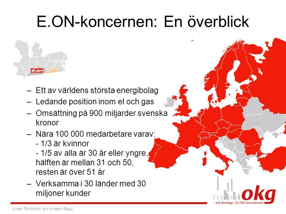 –Ett av världens största energibolag –Ledande position inom el och gas –Omsättning på 900 miljarder svenska kronor –Nära 100 000 medarbetare varav: -