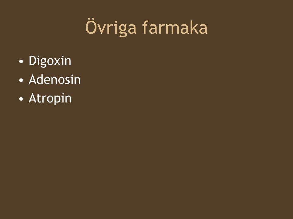 Övriga farmaka Digoxin Adenosin Atropin