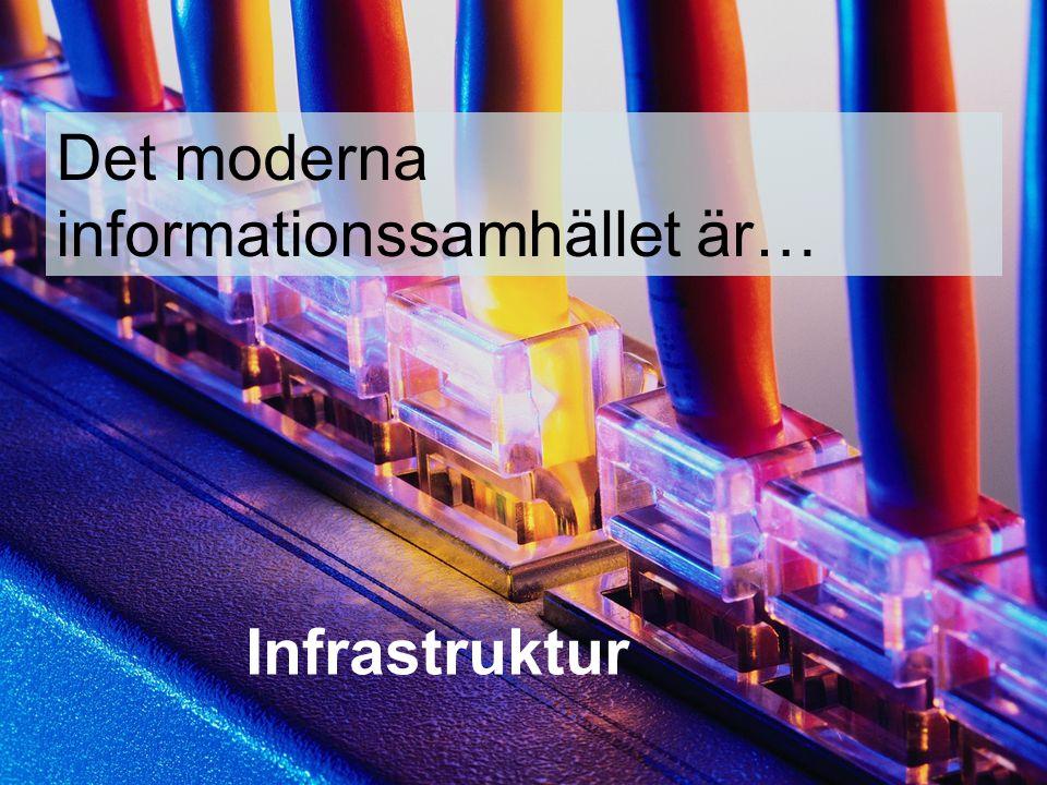 Det moderna informationssamhället är… Infrastruktur