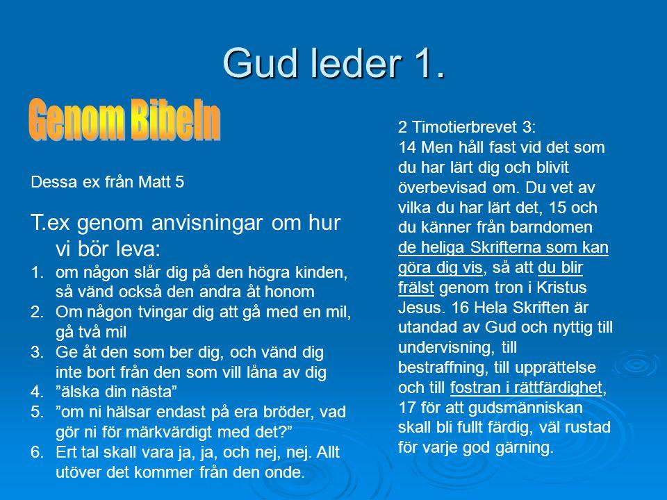 Gud leder 1.