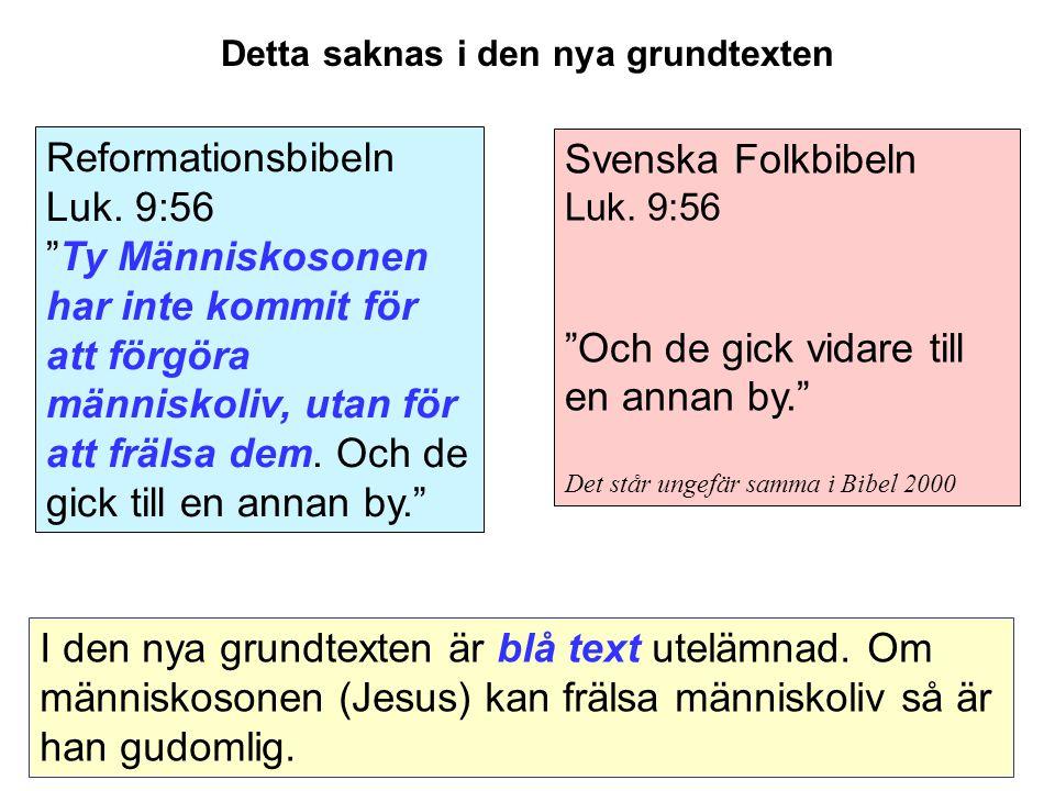 Svenska Folkbibeln Luk.