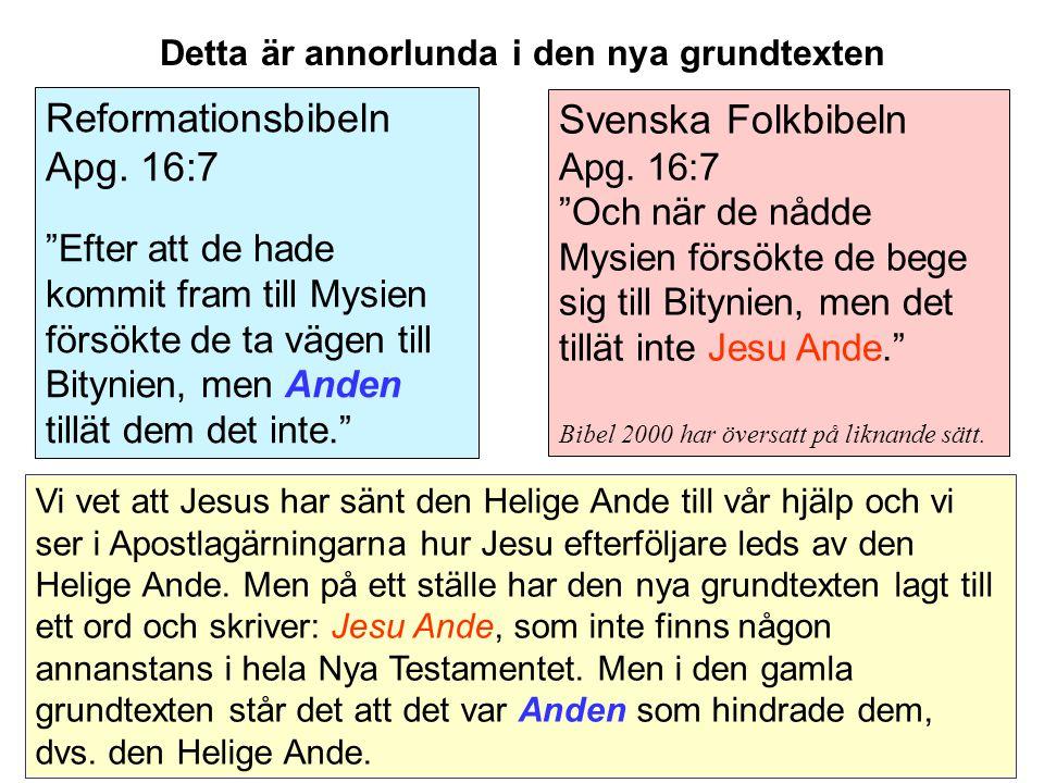Svenska Folkbibeln Apg.