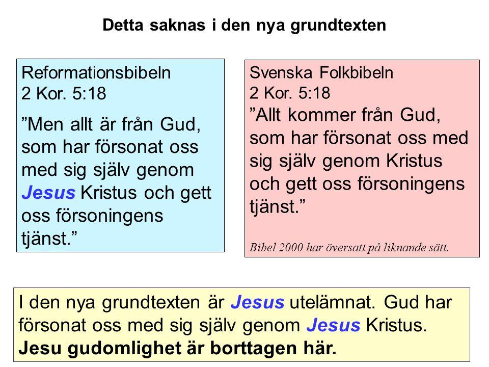 Svenska Folkbibeln 2 Kor.