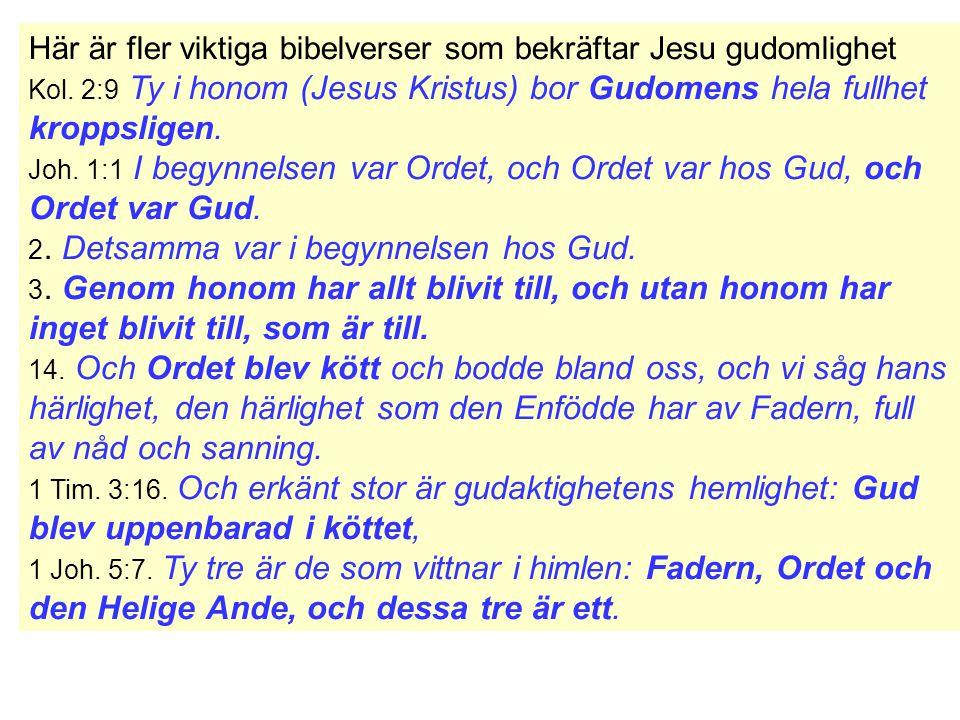 Här är fler viktiga bibelverser som bekräftar Jesu gudomlighet Kol.