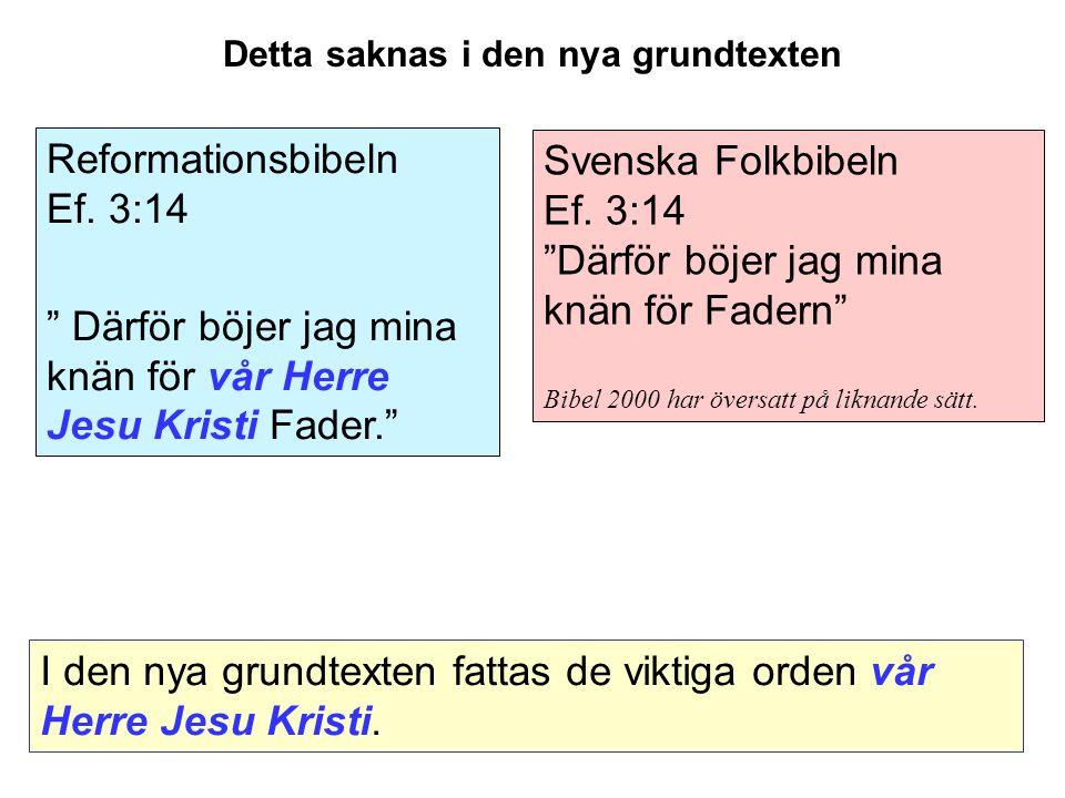 Svenska Folkbibeln Ef.