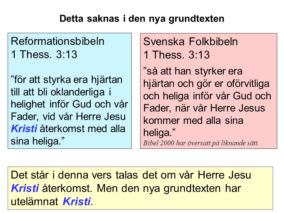 Svenska Folkbibeln 1 Thess.