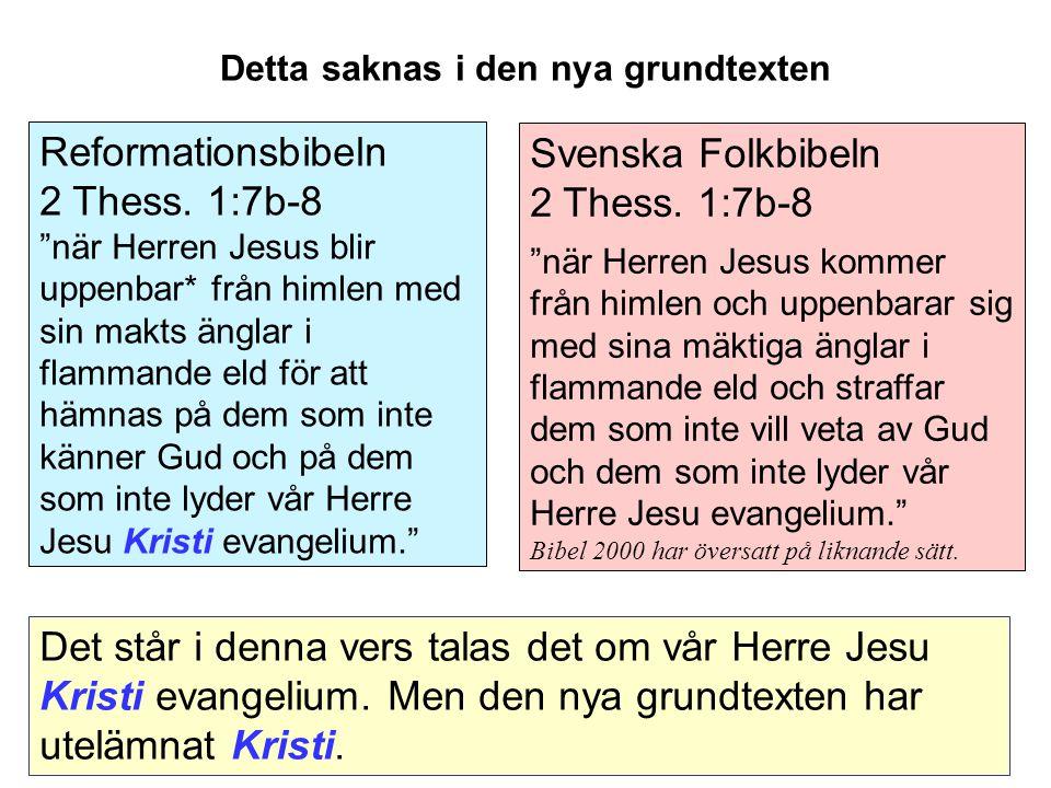 Svenska Folkbibeln 2 Thess.