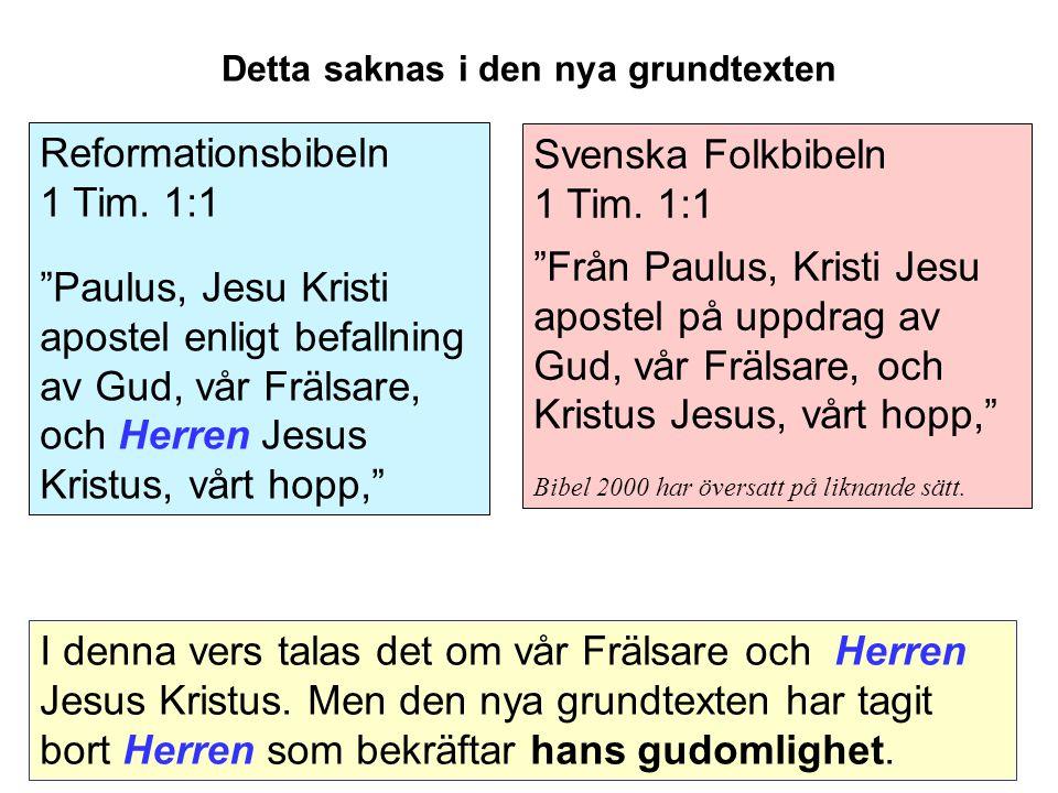 Svenska Folkbibeln 1 Tim.