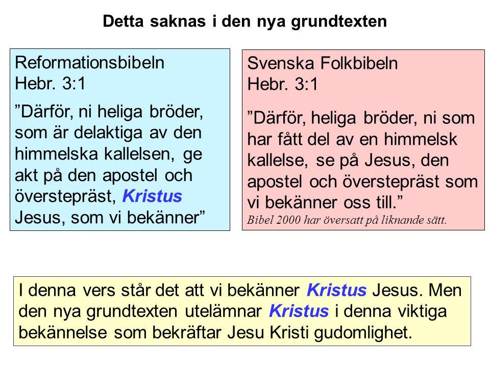 Svenska Folkbibeln Hebr.