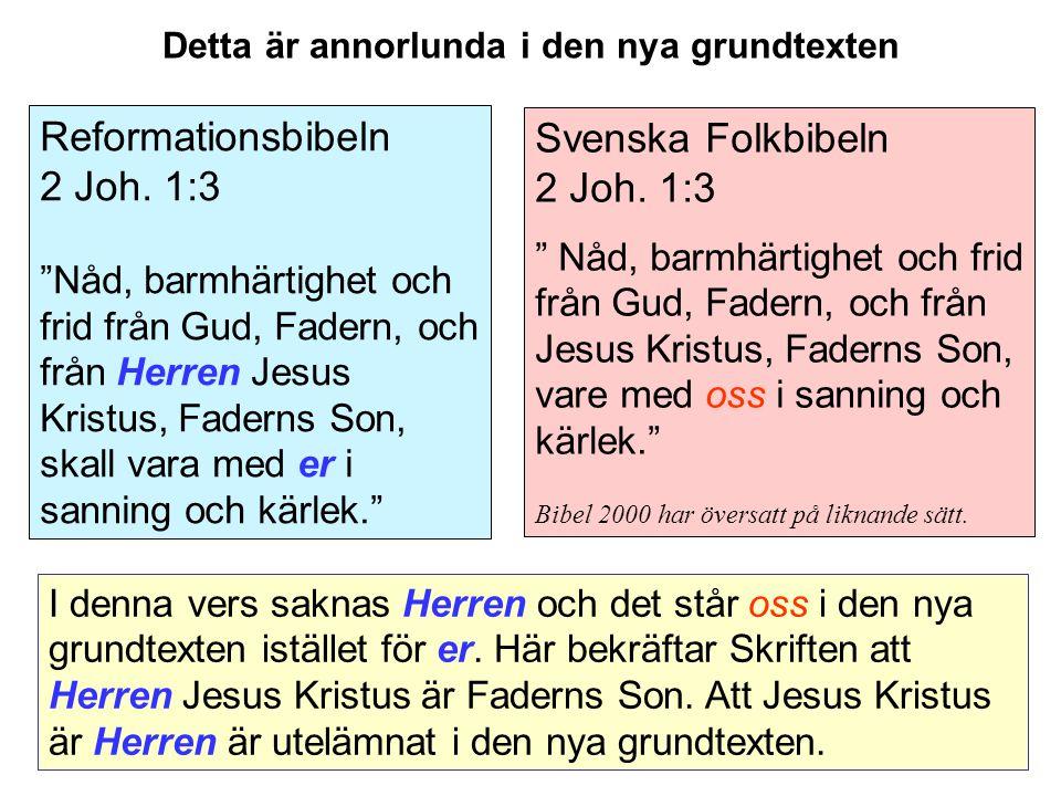 Svenska Folkbibeln 2 Joh.