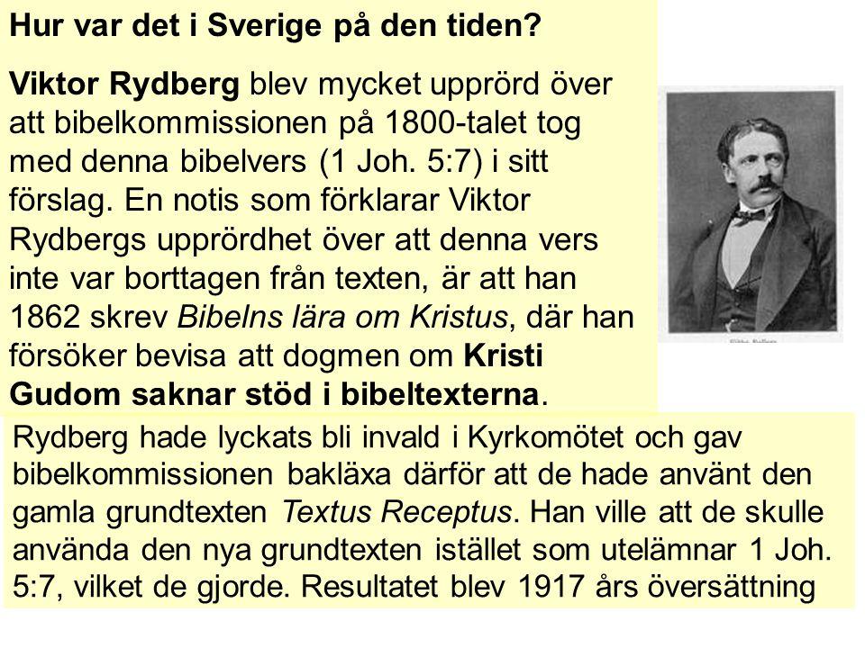 Hur var det i Sverige på den tiden.