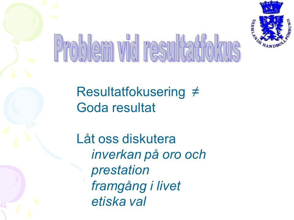 Resultatfokusering ≠ Goda resultat Låt oss diskutera inverkan på oro och prestation framgång i livet etiska val
