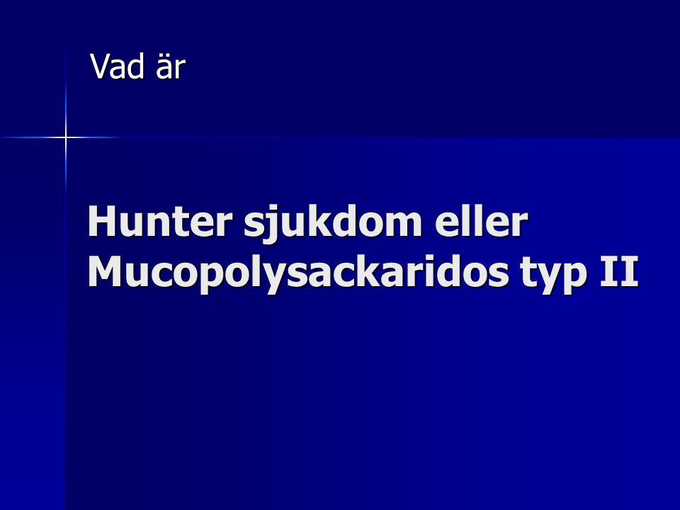 Hunter sjukdom eller Mucopolysackaridos typ II Vad är