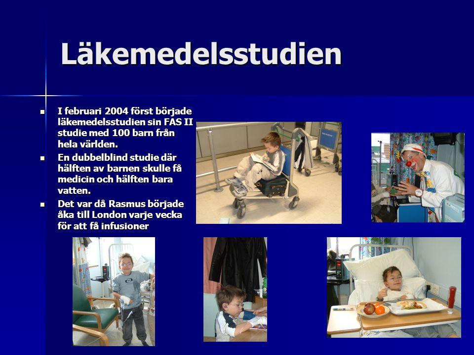 Läkemedelsstudien I februari 2004 först började läkemedelsstudien sin FAS II studie med 100 barn från hela världen.