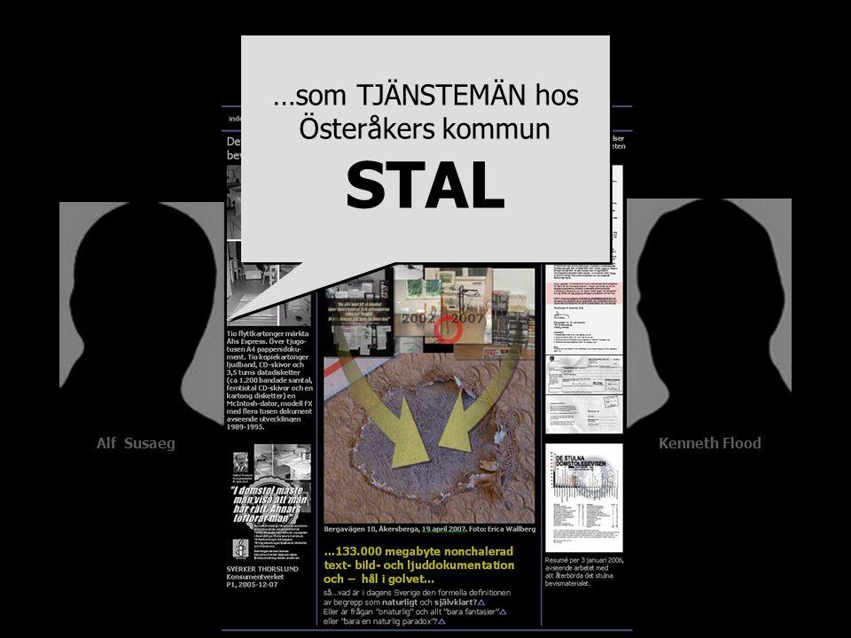 …som TJÄNSTEMÄN hos Österåkers kommun STAL …som TJÄNSTEMÄN hos Österåkers kommun STAL Alf Susaeg Kenneth Flood