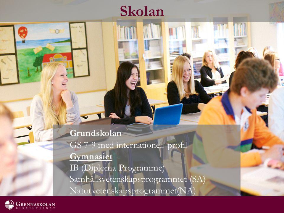 Skolan Grundskolan GS 7-9 med internationell profil Gymnasiet IB (Diploma Programme) Samhällsvetenskapsprogrammet (SA) Naturvetenskapsprogrammet(NA)