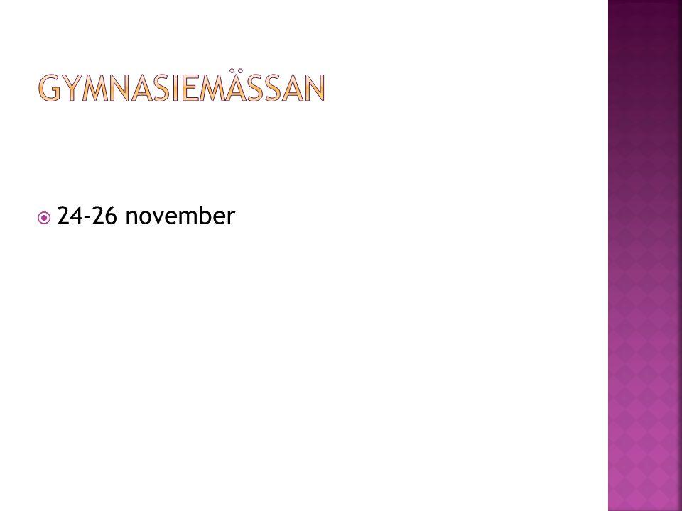  24-26 november