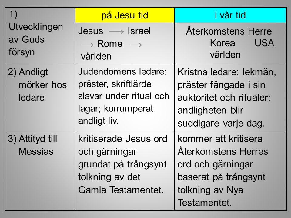 kommer att kritisera Återkomstens Herres ord och gärningar baserat på trångsynt tolkning av Nya Testamentet. kritiserade Jesus ord och gärningar grund