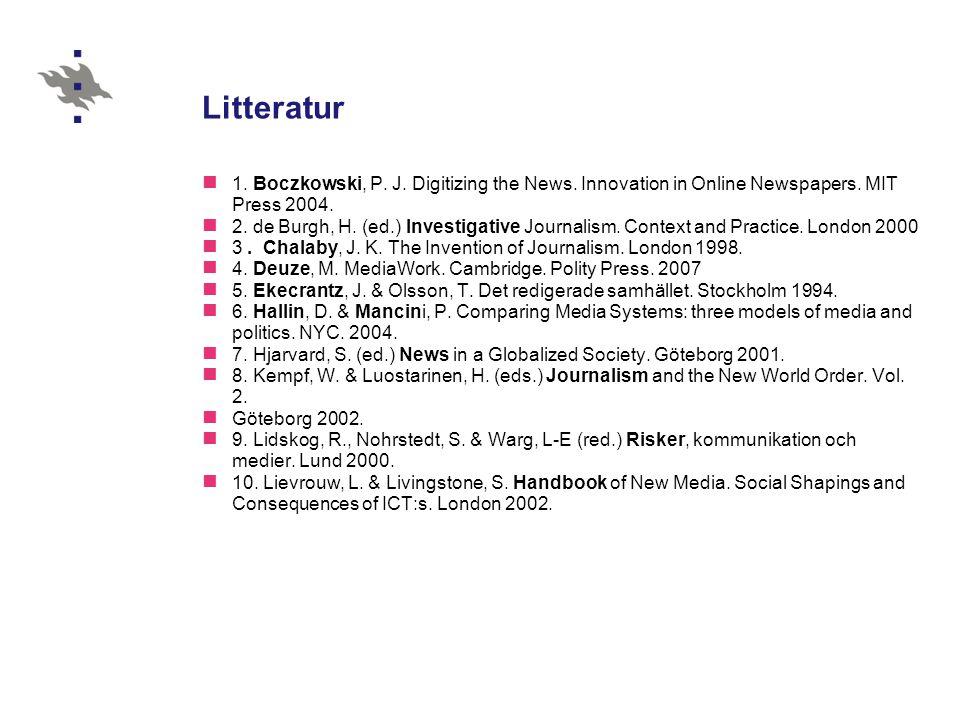 Litteratur (2) 11.Lowe, G. & Bardoel, J.