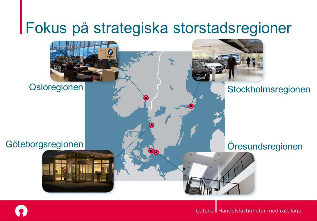 Fokus på strategiska storstadsregioner Osloregionen Göteborgsregionen Stockholmsregionen Öresundsregionen