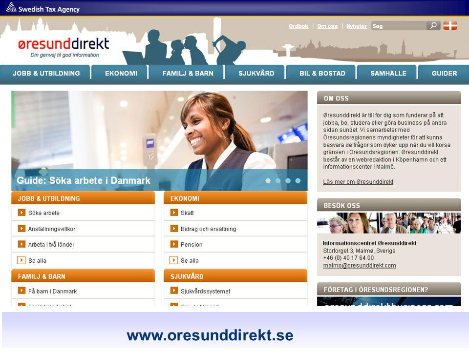 www.oresunddirekt.com www.oresunddirekt.se