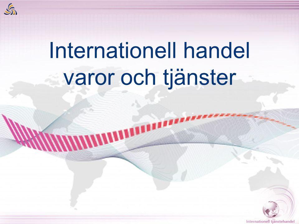 Internationell handel varor och tjänster