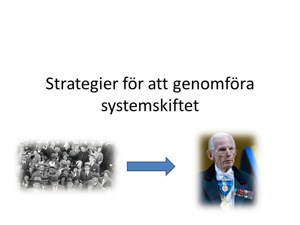 Strategier för att genomföra systemskiftet