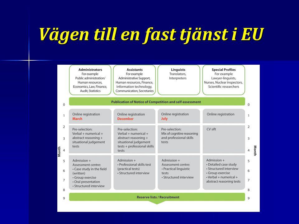 Vägen till en fast tjänst i EU