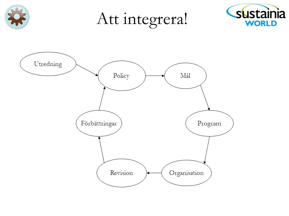 Att integrera! Revision Mål Policy Utredning Program Organisation Förbättringar