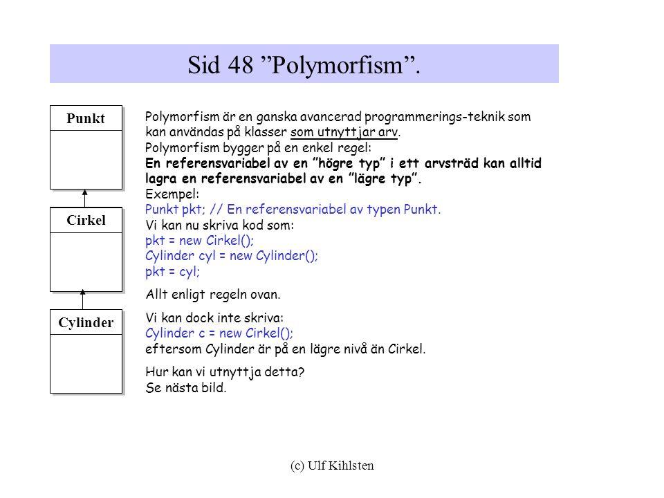(c) Ulf Kihlsten Sid 48 Polymorfism .