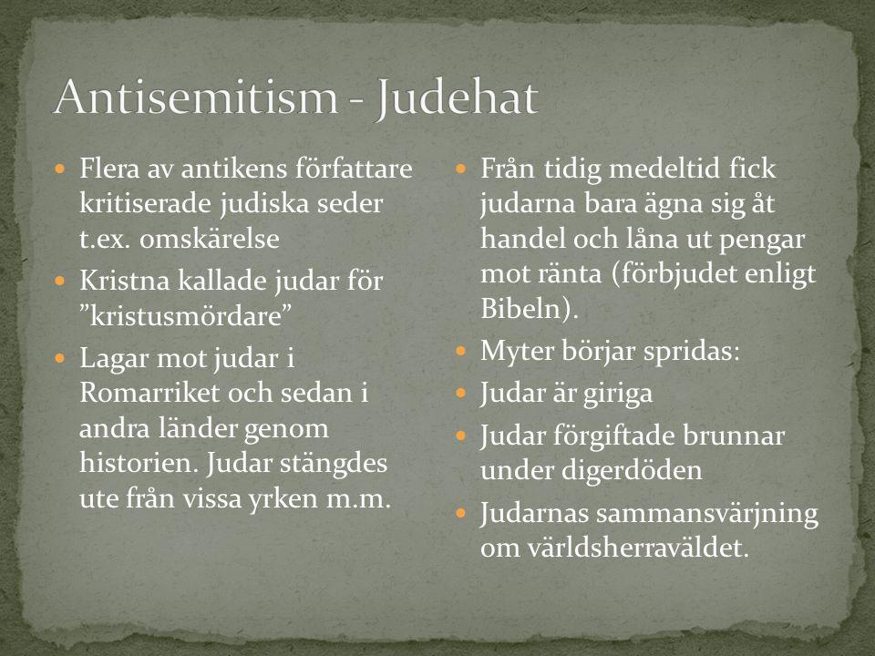 Flera av antikens författare kritiserade judiska seder t.ex.