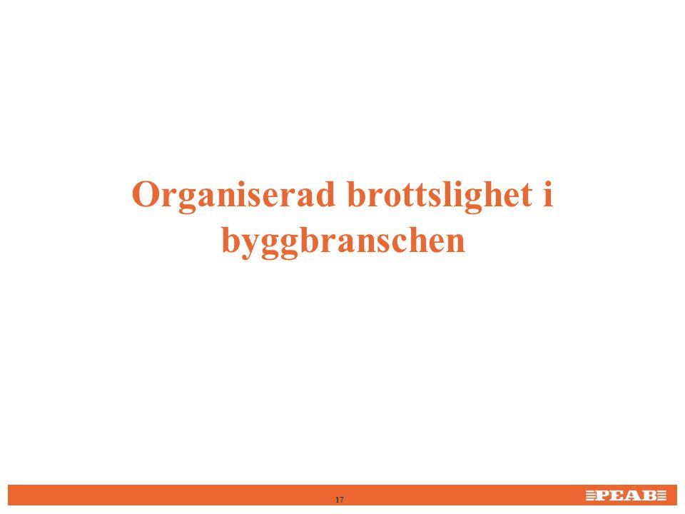 Organiserad brottslighet i byggbranschen 17