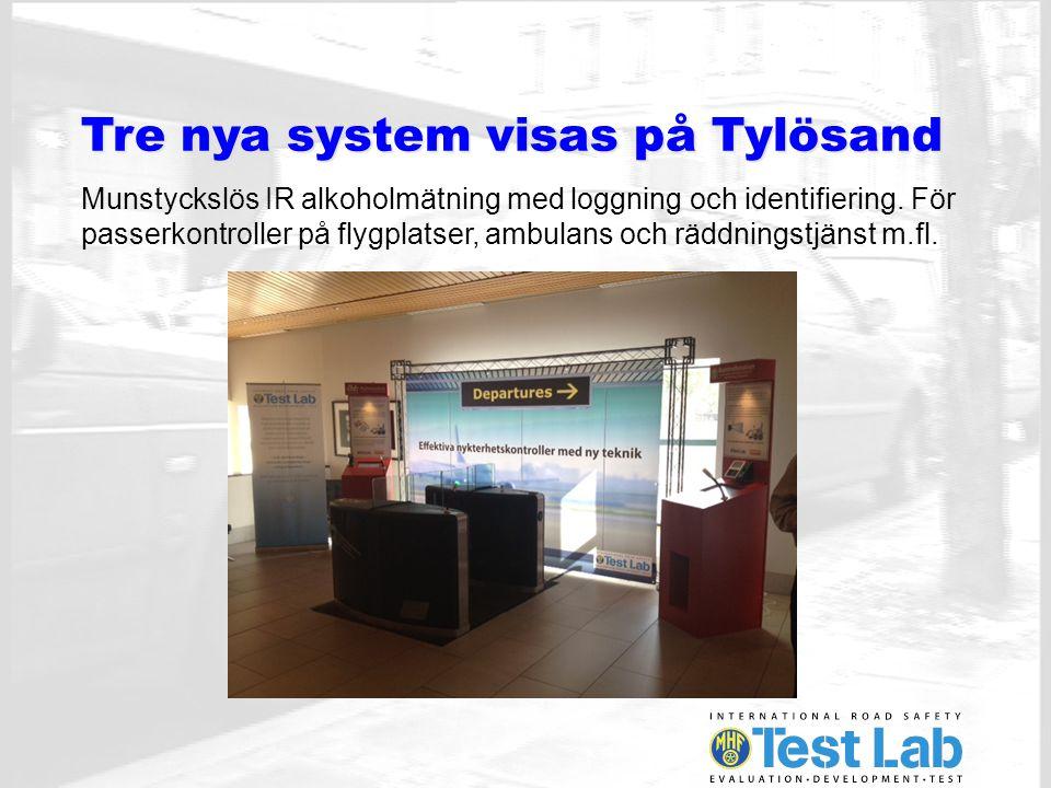 Framtidens alkolås system integreras med andra stödsystem Så som ISA, Fleetmanagementsystem, positioneringssystem mm.