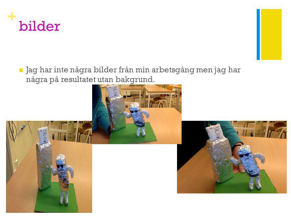 + bilder Jag har inte några bilder från min arbetsgång men jag har några på resultatet utan bakgrund.