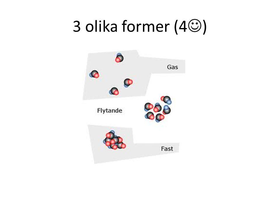 3 olika former (4 )
