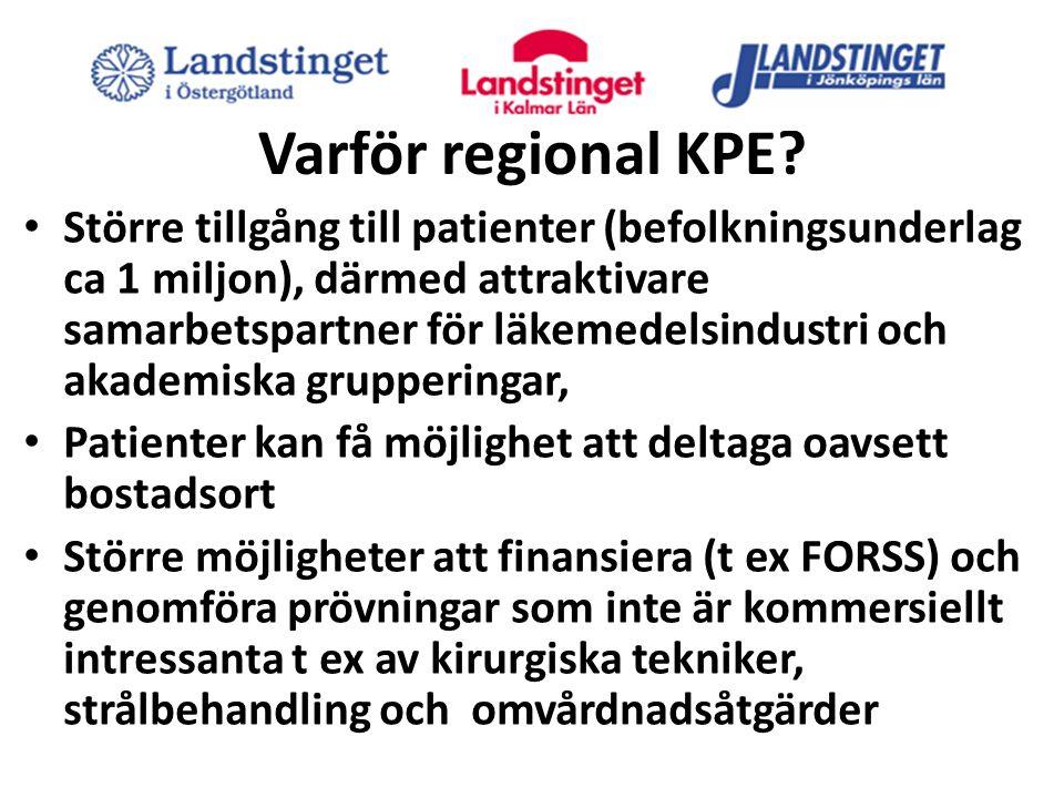 Varför regional KPE.