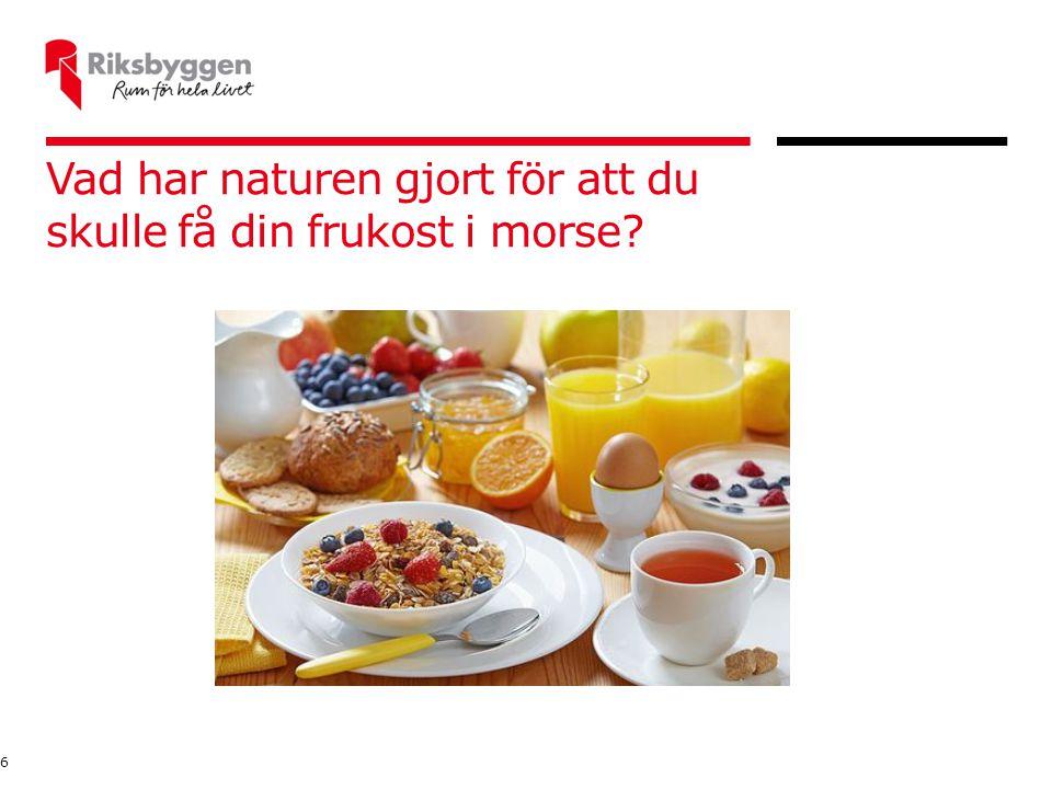 Vad har naturen gjort för att du skulle få din frukost i morse? 6