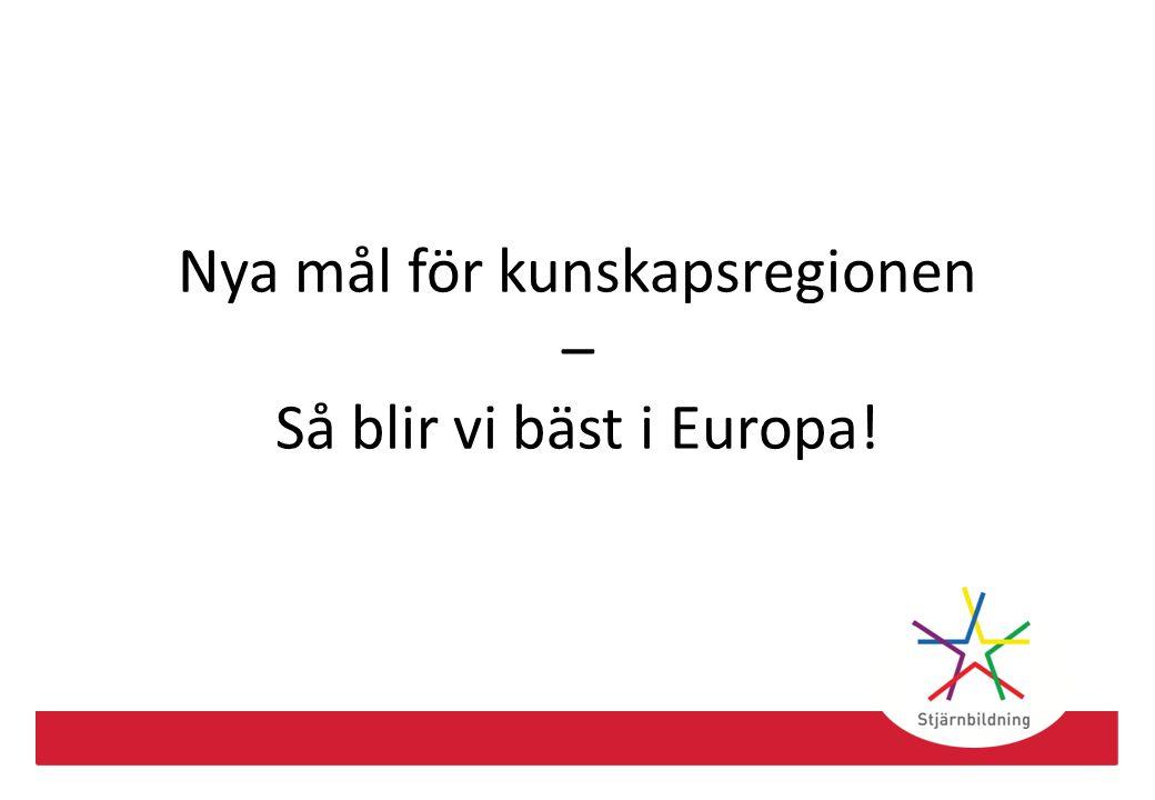 Nya mål för kunskapsregionen – Så blir vi bäst i Europa!