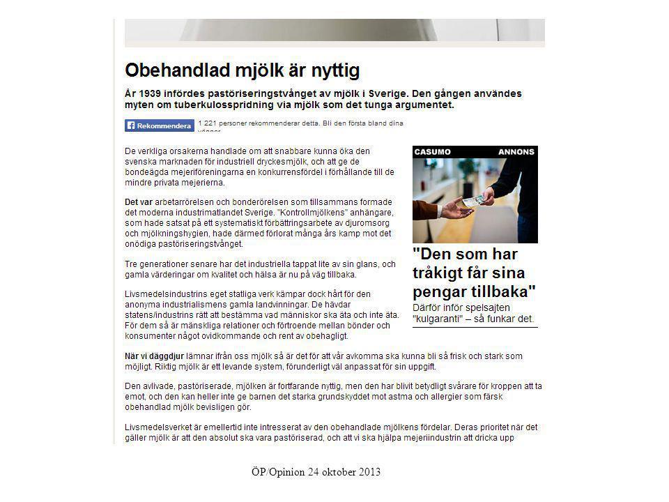 ÖP/Opinion 24 oktober 2013